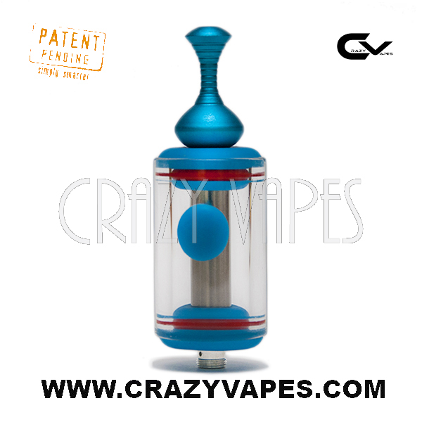 Crazy Vapes eCig Glass Tank with Side Port Access