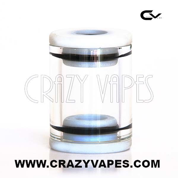 eCig Glass Tank with White Caps