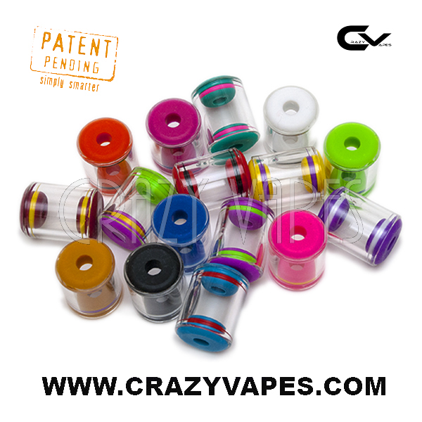 Colorful Grommet Ecig Glass Tank